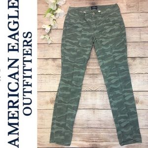 American Eagle Outfitters Camouflage Skinny Jeans